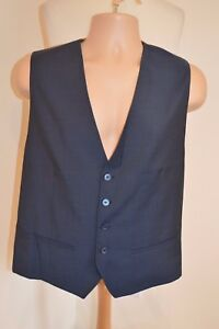 "Men's Ted Baker ""twirl"" Navy Blue Wool Tailored Waistcoat Bnwt Uk 42r Rrp £172 Grade Produkte Nach QualitäT"