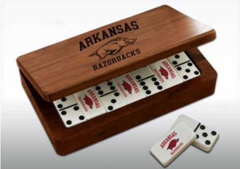 University of Arkansas Jeu De Dominos Boîte eau Set
