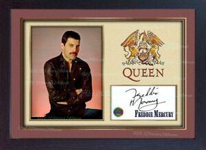 Freddie Mercury Queen signed autograph Music Memorabilia FRAMED photo print 617215520508