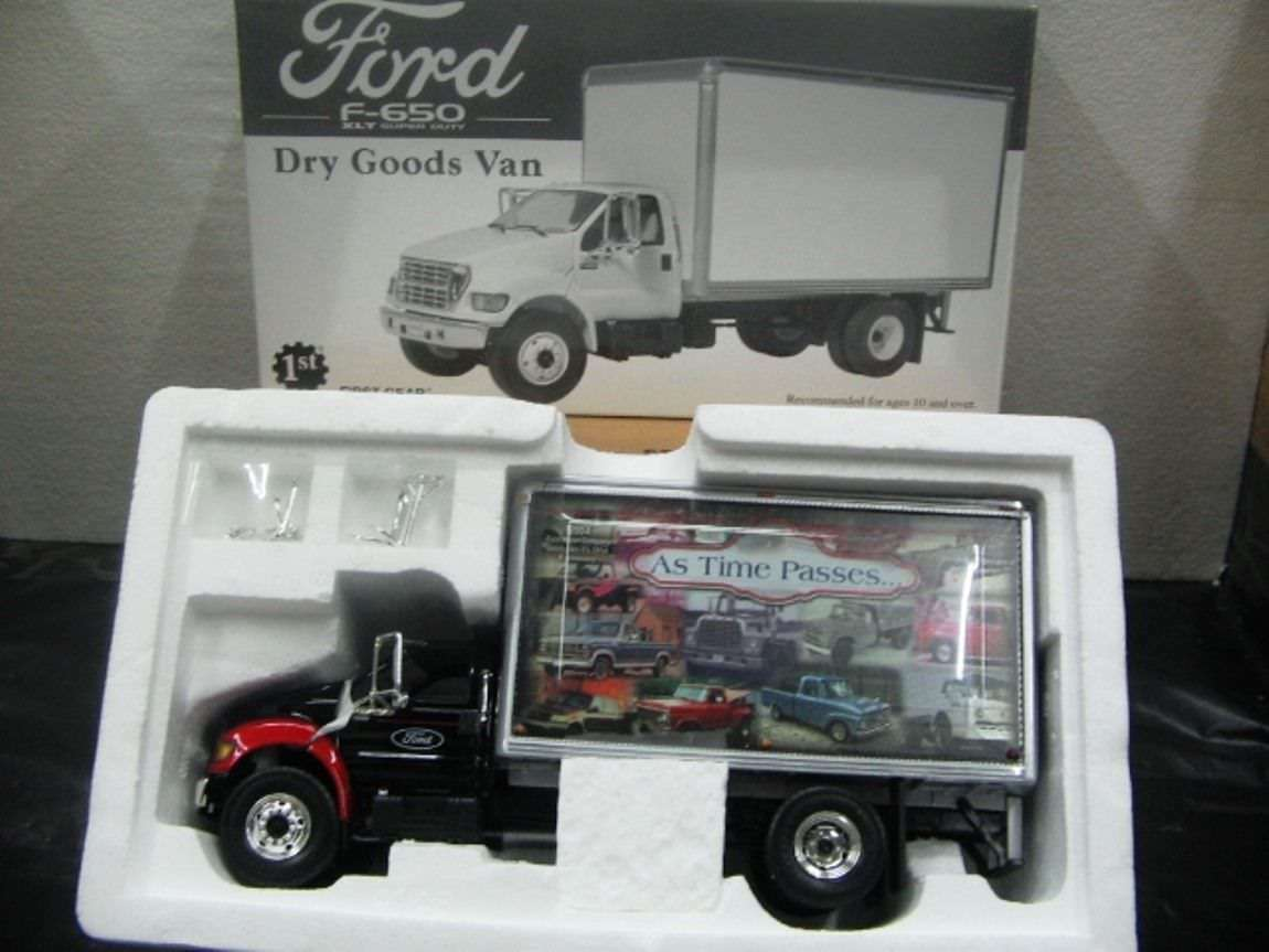 Wow extrêmement rare FORD F650 XLT  Comme le temps passe'S box Van 1 34 FIRST GEAR-Tekno