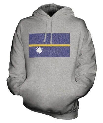 Nauru Griffonnage Drapeau Sweat à Capuche Unisexe Haut Cadeau Naoero Nauruan