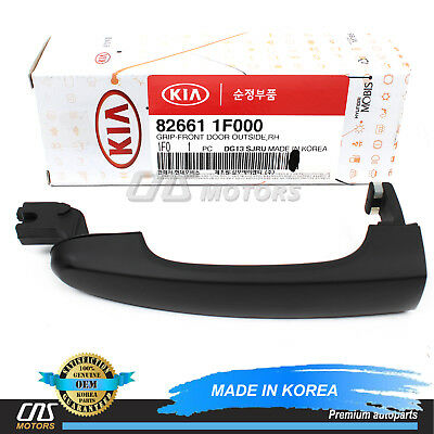 New Genuine FRONT RIGHT Outside Door Handle BLACK OEM For 2005-2009 Kia Sportage