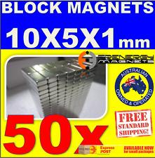 50X Block Neodymium Rare Earth Magnets 10x5x1 N52