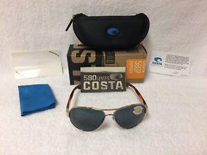 e4c3e8127dd53 NEW Costa Del Mar South Point Polarized Sunglasses Rose Gold Gray ...