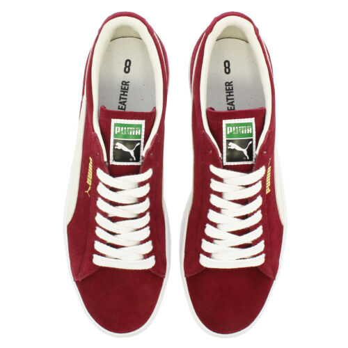 Men/'s Puma Suede 90681 Pomegranate Red Suede Retro Trainers UK Size 3.5-10.5
