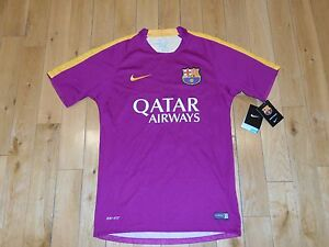 info for f92d7 4fe16 Details about NIKE FCB FC BARCELONA 2016 Flash Prematch Practice Jersey Kit  Mens Sm Training
