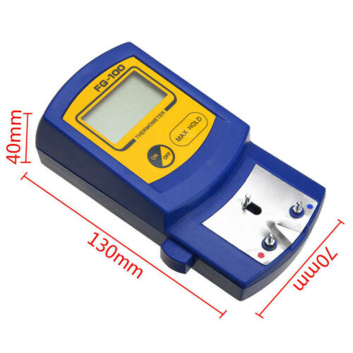 FG-100 Soldering Iron Tip Thermometer Temperature Tester 5X Lead Free Sensor Set