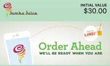 $30.00 Jamba Juice E - Gift Card (READ DESCRIPTION)