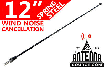 """17-18 Ford F250 Super Duty 12/"""" Black Spring Stainless AM//FM Antenna Mast Fits"""