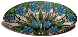 Antique-Early-American-Art-Nouveau-Floral-Guilloche-Enamel-Brooch-Pin-2-1-8-034