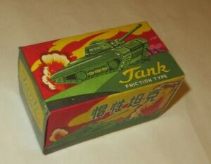 MF-074 SMALL CHINESE MILITARY ARMY TANK FRICTION TIN TOY COLLERTOR'S ITEM RARE
