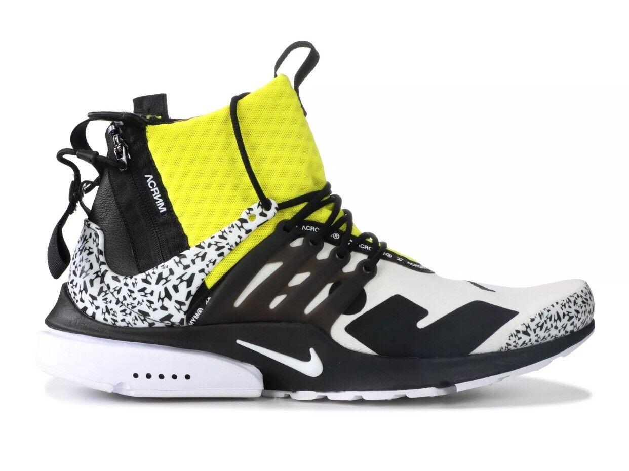 Nike X Acronym Air Presto Mid Dynamic Yellow LIMITED AH7832-100