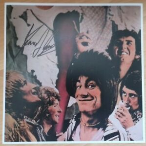 SIGNED-KENNEY-JONES-12x12-the-FACES-small-faces-the-who-rock-PHOTO-DRUMMER-vinyl
