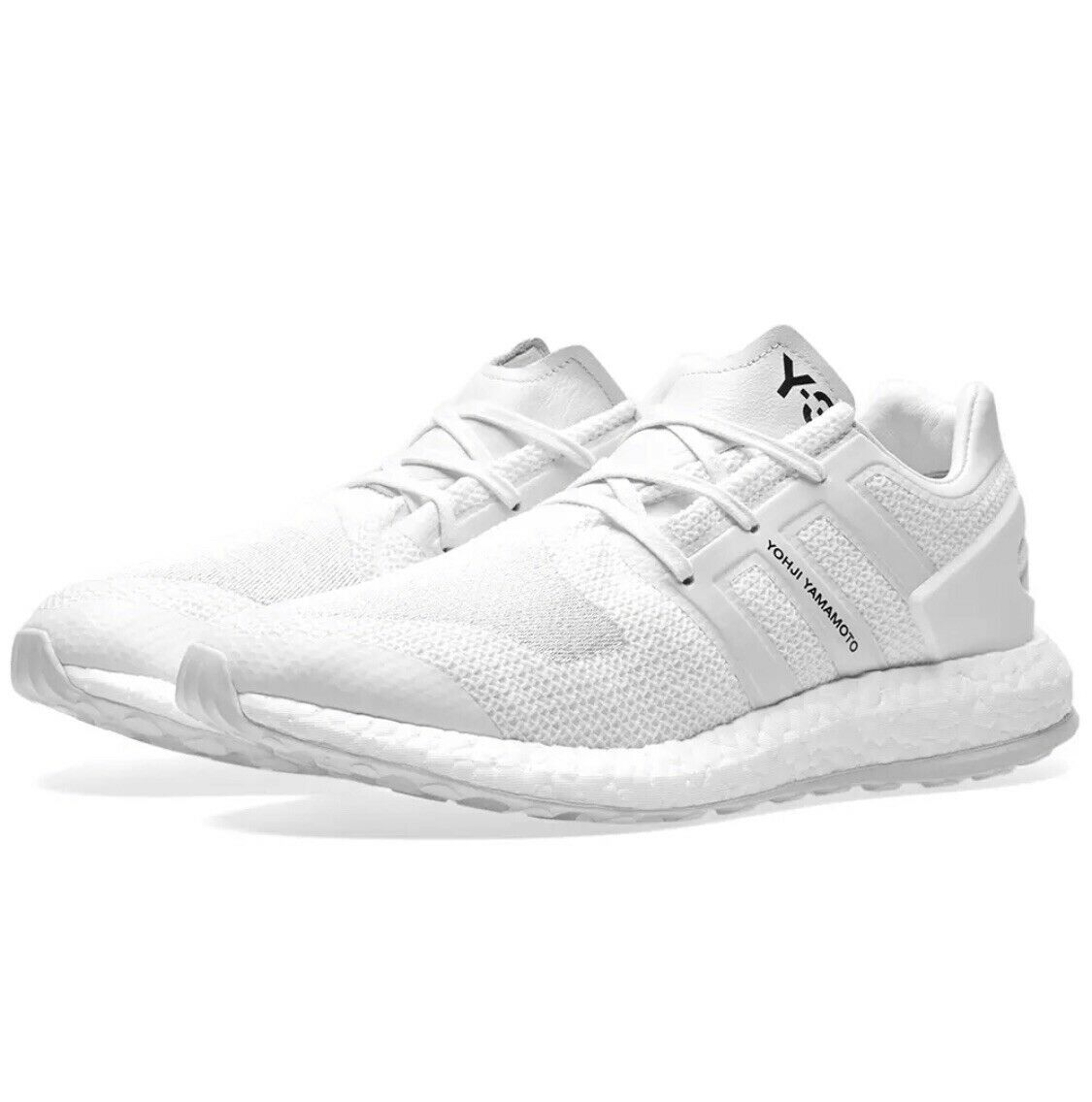 Y-3 PURE BOOST WHITE & CRYSTAL WHITE UK7