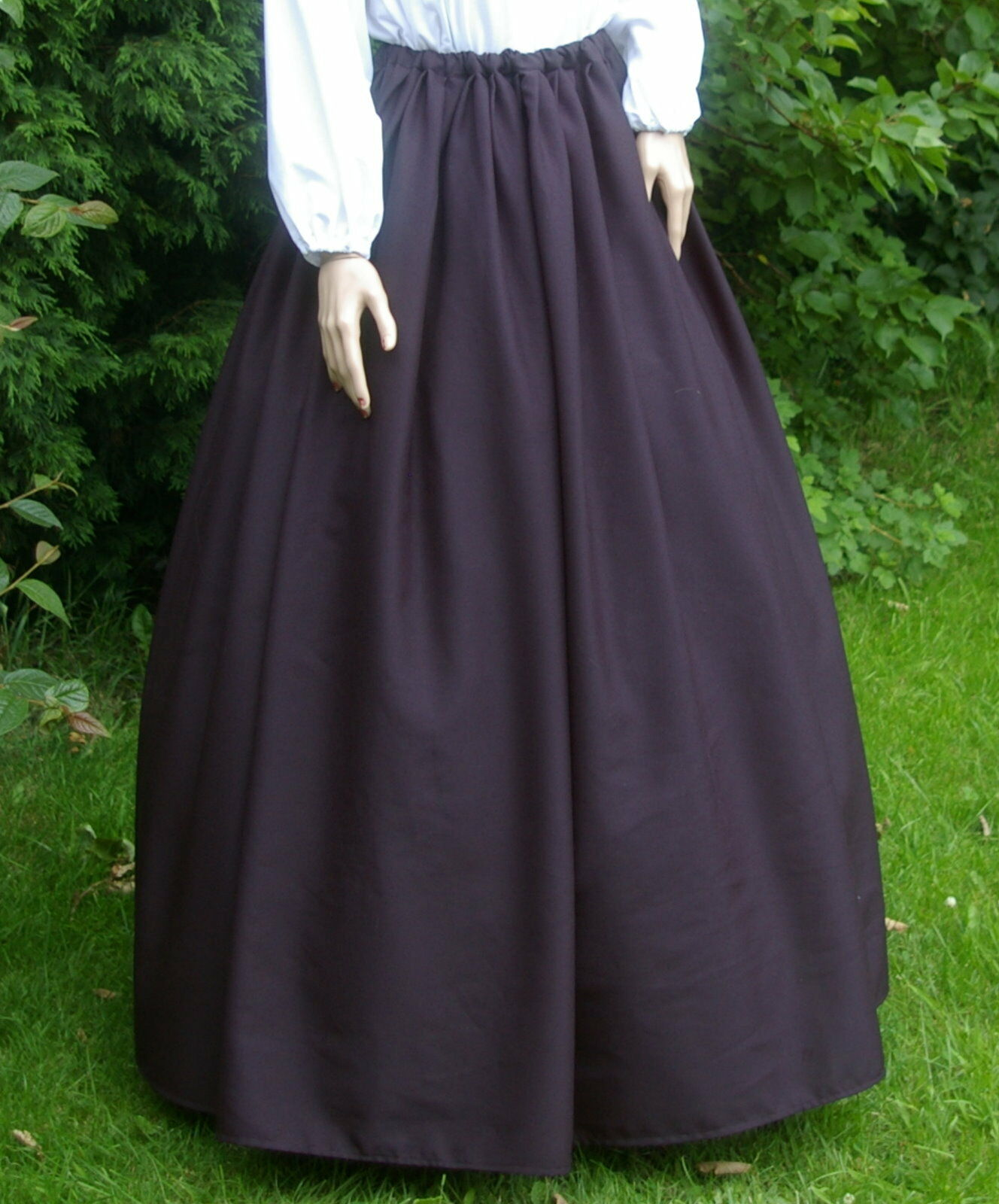 Ladies Victorian / Edwardian costume SKIRT gentry / ball gown fancy dress (pan)