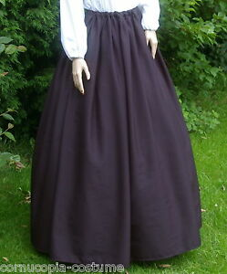 Ladies-Victorian-Edwardian-costume-SKIRT-gentry-ball-gown-fancy-dress-pan