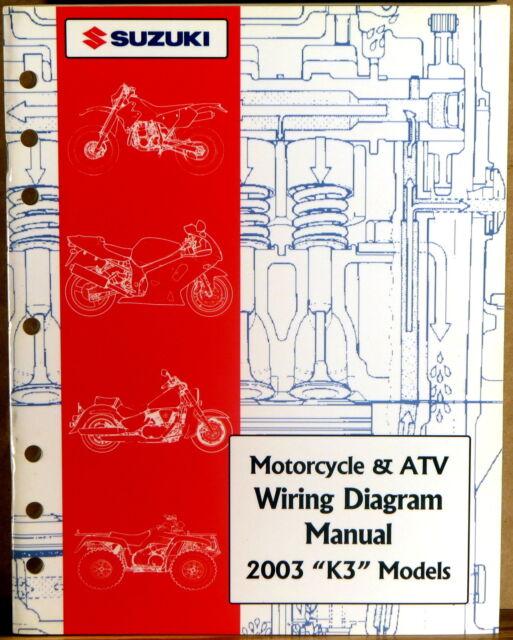 Suzuki Service Manual Motorcycle  U0026 Atv Wiring Diagram 2003  U0026quot K3 U0026quot  Models Like New