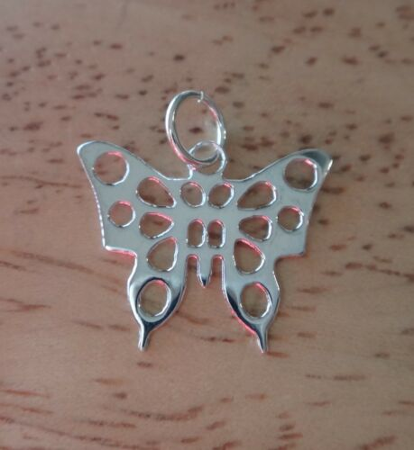 Sterling Silver 17x15mm Thin Cut Out Butterfly Charm!