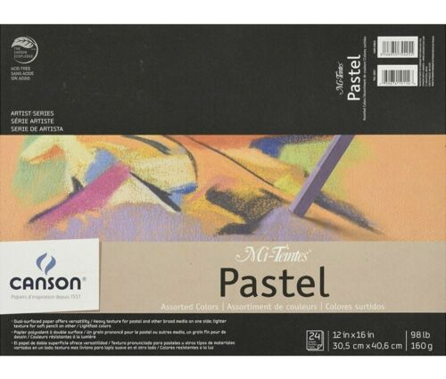 """Assorted Colors 12/""""X16/"""" Canson Mi-Teintes Pastel Pad"""