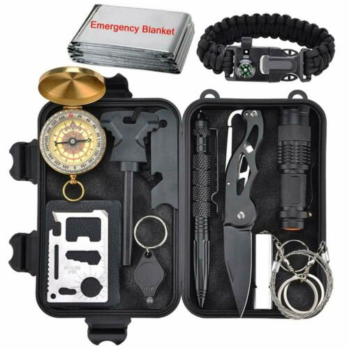 12 in 1 Survival Kit Emergency Military Tactical Gear Outdoor Camping EDC Tools