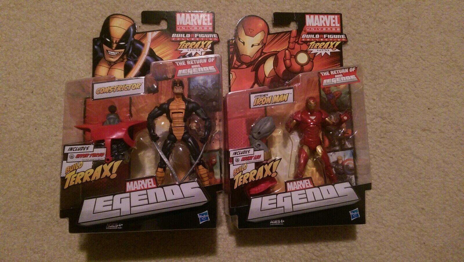 Marvel - legenden terrax baf iron - man - constrictor figur viel