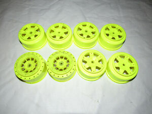 Traxxas-TLR-AE-Redcat-2-2-034-3-0-034-Short-Course-Wheels-Yellow-12mm-Hex