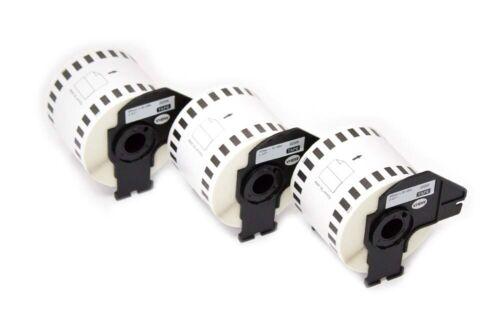 3 ROLLEN ETIKETTEN 62mm x 30.48m STANDARD für BROTHER P-touch DK-22205