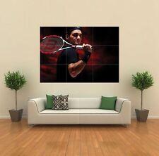 ROGER FEDERER TENNIS SPORT NUOVO GIGANTE GRANDE ART PRINT POSTER QUADRO muro G172
