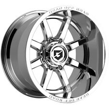 4 Gear Off Road 762c Pivot 20x10 5x55 19mm Chrome Wheels Rims 20 Inch Fits More Than One Vehicle