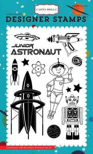 Carta Bella JUNIOR ASTRONAUT 4x6 Clear Designer Stamp 13pc Space Academy Echo