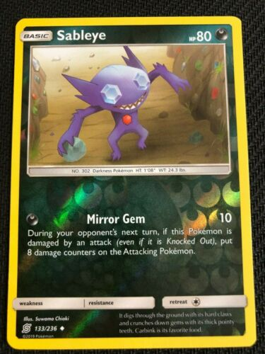 SM UNIFIED MINDS SABLEYE 133//236 incomuns inversa Pokemon
