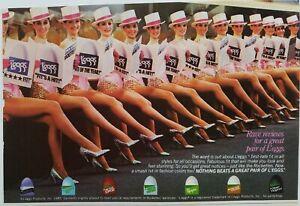 1986 rave reviews for great pair of LEGGS hosiery stockings legs vintage ad