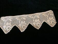 Antique Crochet Fragment Coarse Primitive Flounce Costume Design Dolls Cotton