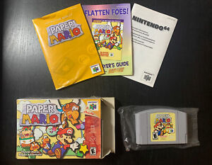 Paper Mario N64 - Authentic, CIB, Tested, Working