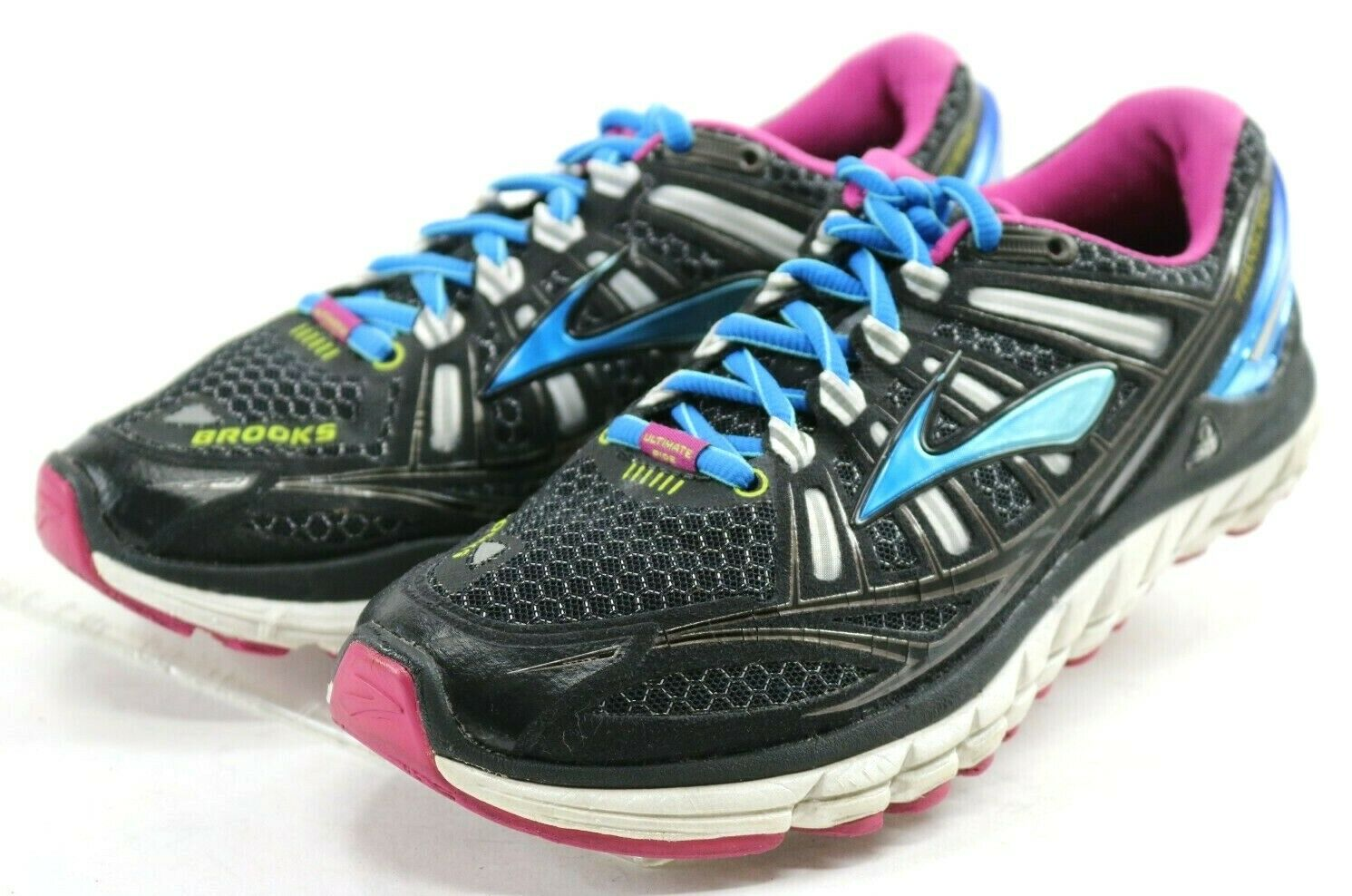 Brooks Transcend 1  110 Women's Running shoes Size 7 Black bluee Pink
