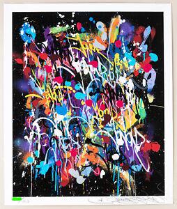 "JonOne ""My World"" Signed, Numbered /407 Art print with COA"