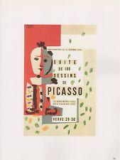 """1989 VINTAGE """"SUITE DE 180 DESSINS"""" PICASSO MOURLOT Color offset Lithograph"""
