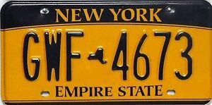 New-York-License-Plate-original-Nummernschilder-in-sehr-gutem-Zustand