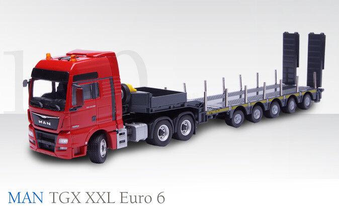 Nuevo Conrad 76172 MAN TGX XXL Euro 6 Tractor Cargador De Muñeca con 5-Axle Baja  Menta en caja