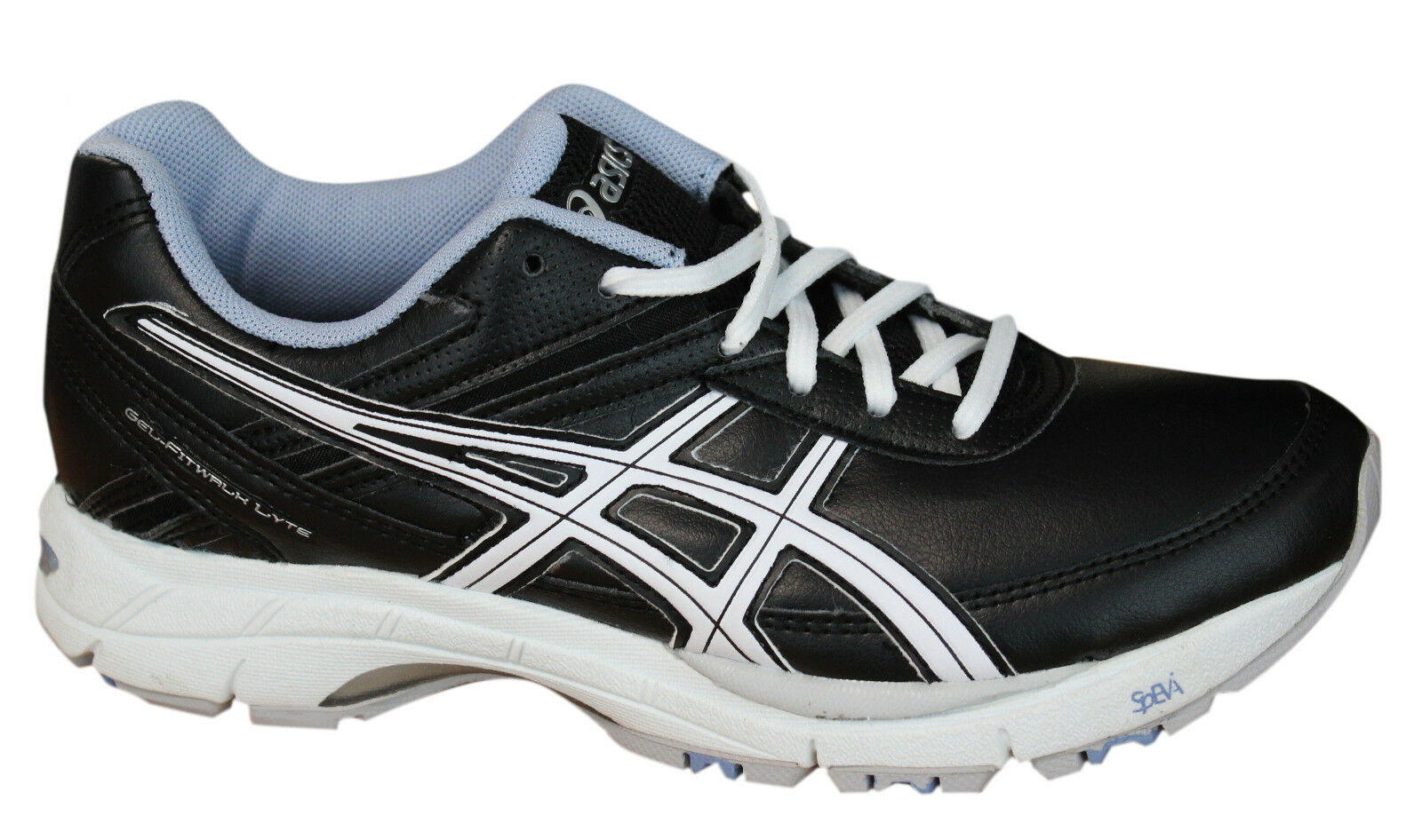 Asics Womens Gel Fitwalk Lyte Sports Outdoor Trainers shoes Black Q156Y 9047 D2