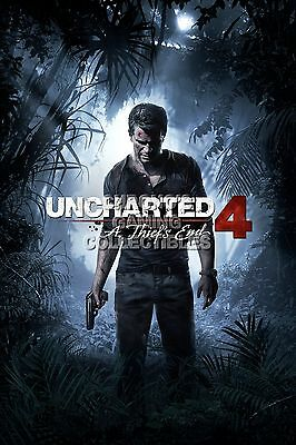 Rgc Huge Poster Uncharted 4 Thief S End Nathan Ps4 Ps3 Xbox
