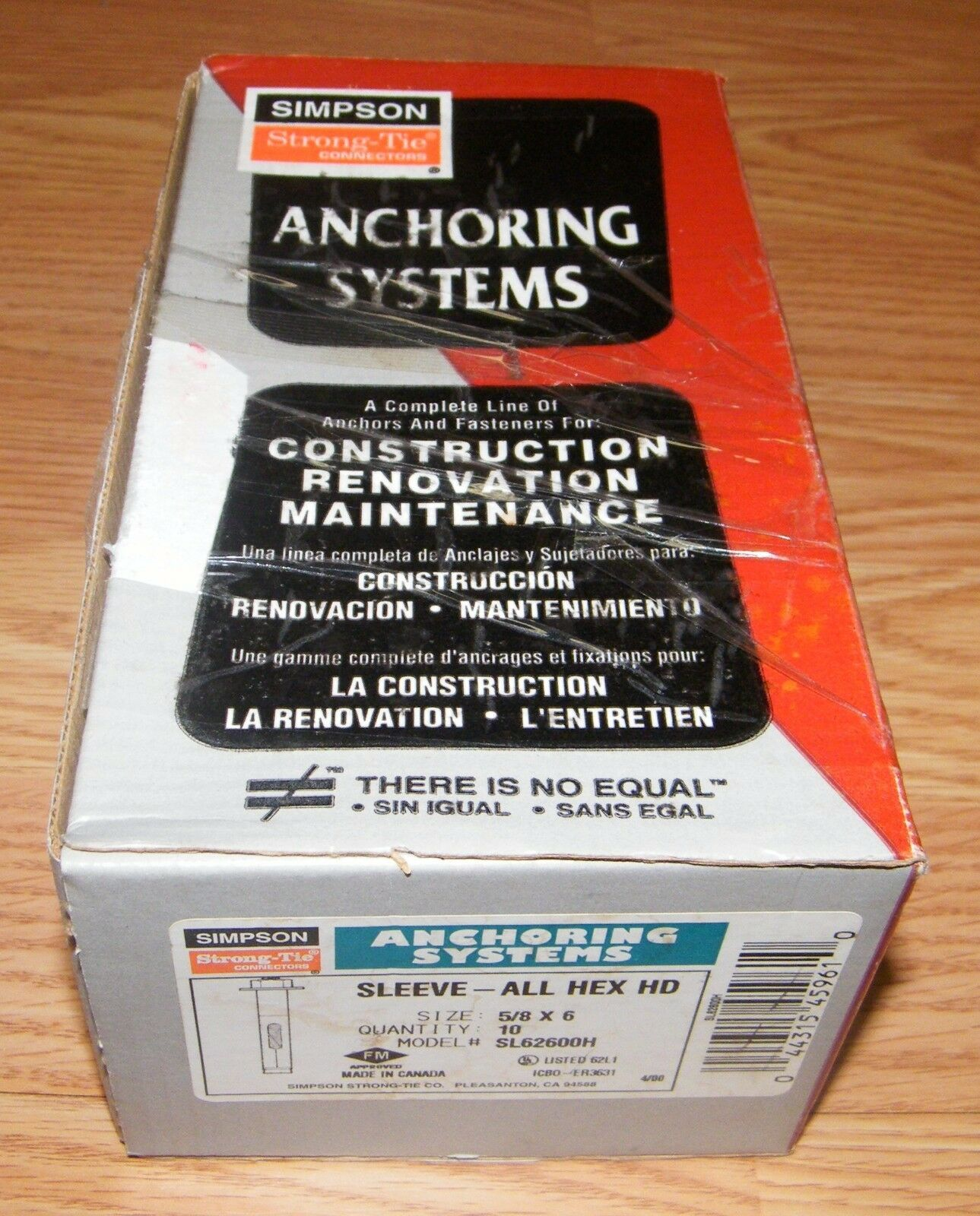 """Simpson Strong-Tie SL62600H Hex Head Sleeve-All Anchor 5//8/"""" x 6/"""" 10ct"""