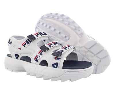Disruptor Sandals White Navy Red