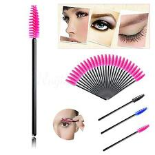 50x Pink Disposable Mascara Wand Brush Eyelash Extension Makeup Accessories Q
