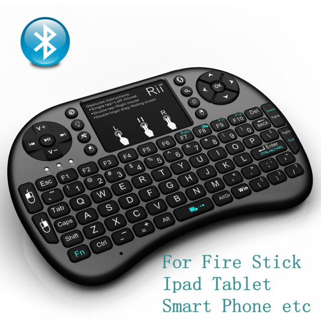 fc580dc43c2 Rii Mini I8 BT Bluetooth Wireless Black Keyboard for Computer Laptop Tablet