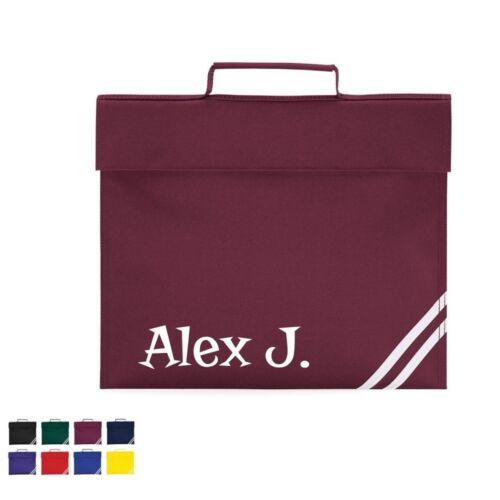 Personalised School Book Bag Name School Class Academy Childrens School Bag