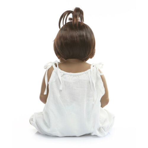 "23/"" Reborn Baby Dolls African Reborn Dolls Girl Black Anatomically Correct Real"