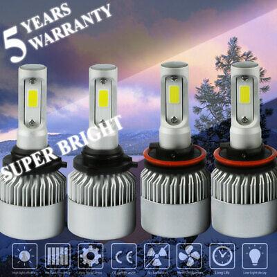 H11 Combo Total 4000W 600000LM LED Headlight Kit Light Bulbs 6000K 2 Pair 9005