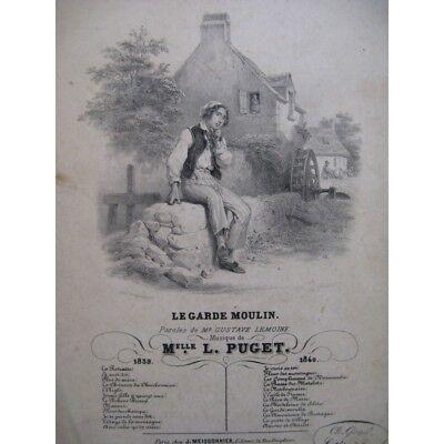 Gerade Puget Verbissen Die Garde Moulin Chant Gitarre 1840 Partitur Sheet Music Score Volumen Groß Musikinstrumente