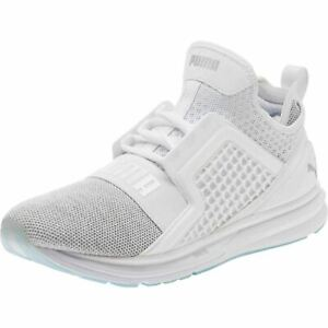Decimal Subvención Tejido  Mens Puma Ignite Limitless Knit Trainers Shoes White 189987 05 UK 8.5 EU  42.5 | eBay